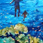 """""""Snorkeling Fun"""" by KimStenbergFineArt"""