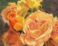 Yellow and Peach Roses