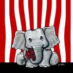 """Circus Elephant"" by KiniArt"