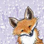 """Fox On Lavender"" by KiniArt"