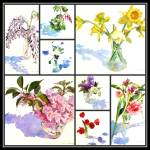 """Spring Flowers Collage I"" by KimStenbergFineArt"
