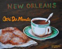Cafe Du Monde  #2 New Orleans Folk Art Southern
