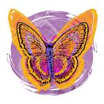 """Tie Dye Butterfly"" by maryostudio"