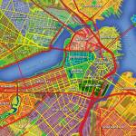 """Boston Map Art"" by Hein"