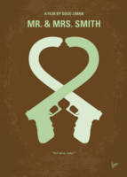 No187 My Mr. and Mrs. Smith minimal movie poster