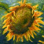 """Sunflower Face Art"" by Lenora"