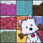 """Candyland Barkery Westie"" by KiniArt"