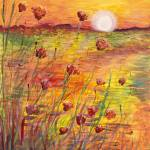 """Sunset and Poppies"" by nadinerippelmeyer"