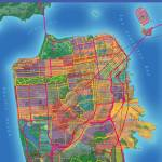 """San Francisco Map Art"" by Hein"