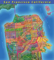 San Francisco Map Art
