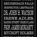"""Sherlock Holmes Bus Scroll 2"" by FordLou"