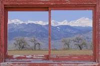 Rustic Red Barn Picture Window Colorado View