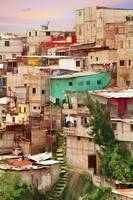 Shantytown Favela in Guatemala City