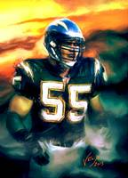 Junior Seau NFL San Diego Chargers Art