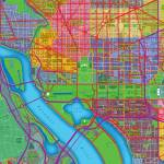 """Washington, DC Map Art"" by Hein"