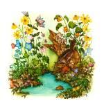 """Childrens Whimsical Animal Art"" by DonnaMariesArt"