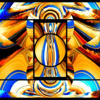 Abstract Pieces Art Prints & Posters by Drakavai ...