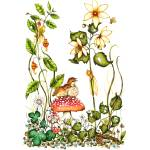 """""""Watercolor Print - Fairy and Birds -"""" by DonnaMariesArt"""