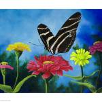 """Zebra Stripes and Zinnias"" by odessa"