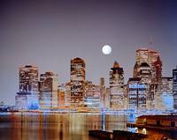 LOWER MANHATTAN SKYLINE PRE 9 11