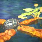"""Painted Turtle watercolor"" by PaintedPathWatercolors"