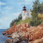 """Bass Harbor Lighthouse"" by PaintedPathWatercolors"