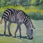"""Zebra"" by PaintedPathWatercolors"