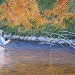 """Fly Fisherman"" by PaintedPathWatercolors"