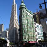 """Cafe Niebaum Coppola + Transamerica Tower"" by irwinfamily"