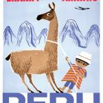 """Braniff Peru Travel Poster"" by jvorzimmer"
