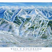 """Vail Colorado"" by jamesniehuesmaps"
