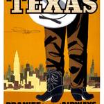 """Braniff Texas Travel Poster"" by jvorzimmer"