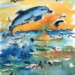 """Earth Day Dolphin The Glory of Life"" by GinetteCallaway"