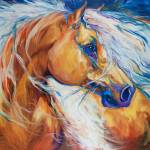 """FREE BREEZE PALOMINO"" by MBaldwinFineArt2006"