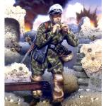 """Fallschirmjager Officer, Monte Cassino, 1944."" by retrogameart"