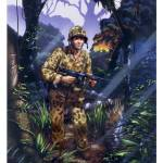 """Marine Raider, Bougainville, 1943."" by retrogameart"