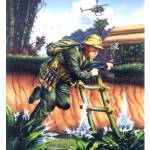 """North Vietnamese Infantry, An Loc, RVN, 1968."" by retrogameart"
