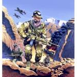 """SAS Scud Hunters, Gulf War, 1991"" by retrogameart"
