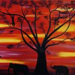 """African Fire Sky"" by waynecantrell"