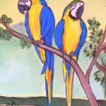 """parrots - felix and fergus"" by traciebrownart"