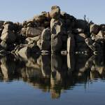 """Curiosity Rocks - Lake Jindabyne - NSW Snowy Mount"" by Highcountryimaging"