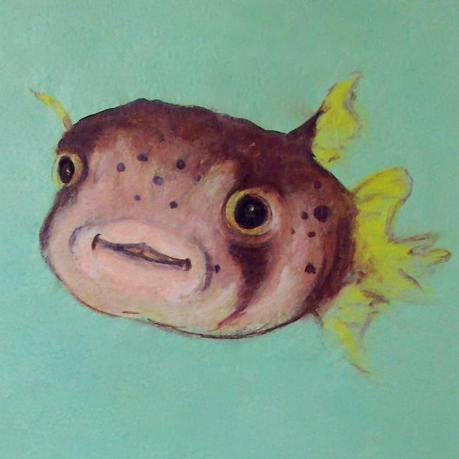Stunning puffer fish artwork for sale on fine art prints for Puffer fish art