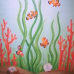 """coral reef - clown fish quartet"" by traciebrownart"