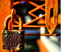GOLDDOOR, Padlock, Orange, Macro