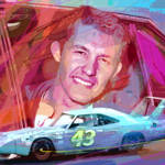 """RICHARD PETTY SUPERBIRD"" by DavidLloydGlover"