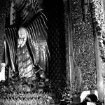 """STANDING BUDDHA & SITTING MONK, B&W"" by nawfalnur"