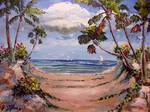 Walking to the Beach by Mazz Original Paintings