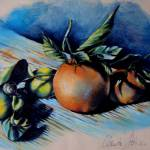 """Still Life of Citrus and Little Snail"" by unlimiteditalian"
