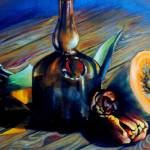"""Still Life with Pumpkin and Tulips"" by unlimiteditalian"