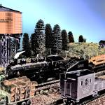 """Vintage railroad scene"" by frankreggio"